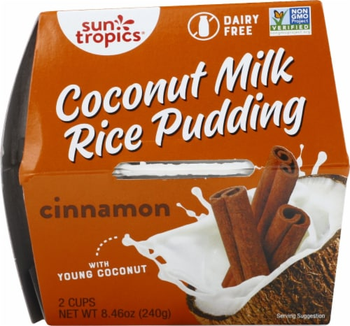 Sun Tropics  Coconut Gluten & Dairy Free Cinnamon Rice Pudding 2 Count Perspective: front