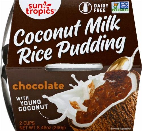 Sun Tropics  Coconut Gluten & Dairy Free Classic Cocoa Rice Pudding  2 Count Perspective: front