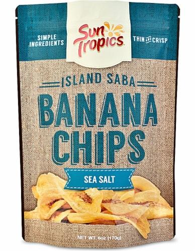Sun Tropics  Island Saba Banana Chips   Sea Salt Perspective: front