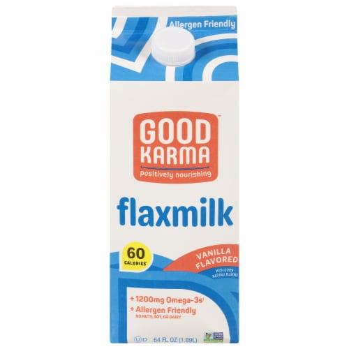 Good Karma Vanilla Flax Milk Perspective: front