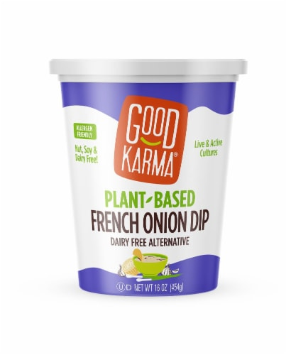 Good Karma Plant-Based French Onion Dip Perspective: front