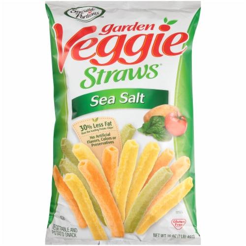 Sensible Portions Sea Salt Garden Veggie Straws Snacks Perspective: front