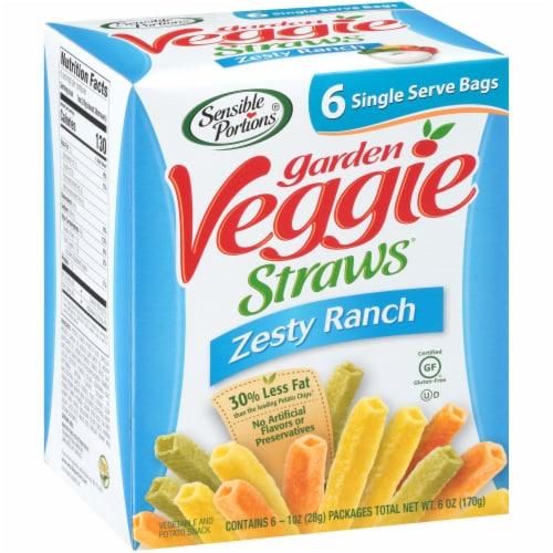 Sensible Portions  Zesty Ranch Garden Veggie Straws 6 Count Perspective: front