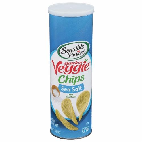 Sensible Portions Garden Veggie Sea Salt Chips Perspective: front