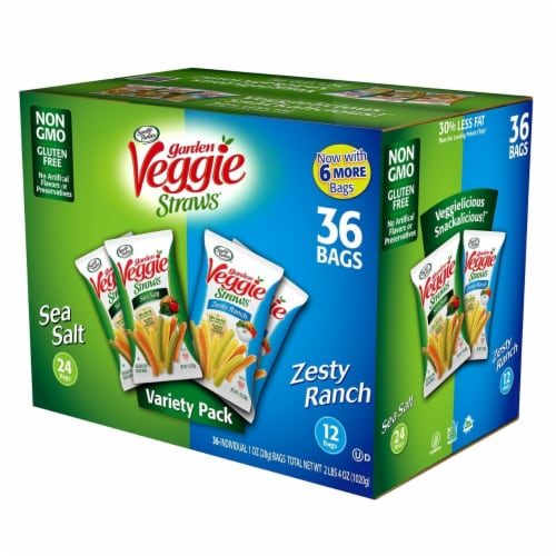 Sensible Portions Veggie Straws Variety Pack (1 Ounce each, 36 Count) Perspective: front