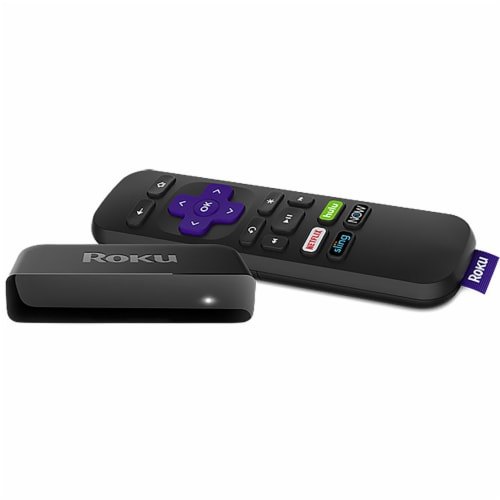 Roku Premiere Streaming Stick - Black/Purple Perspective: front