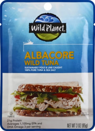 Wild Planet Pouched Albacore Tuna Perspective: front