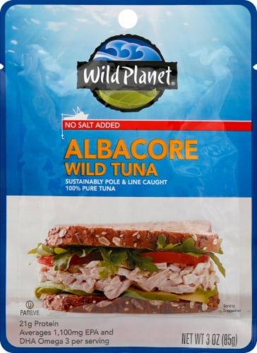 Wild Planet Albacore Tuna With No Salt Perspective: front