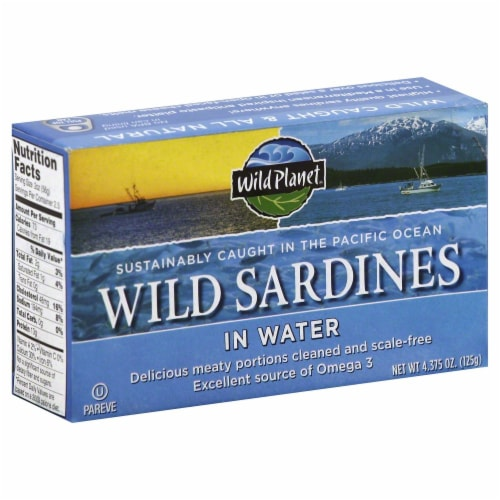 Wild Planet Sardines in Water Perspective: front