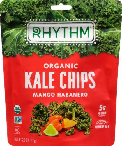 Rhythm Superfoods Organic Mango Habanero Kale Chips Perspective: front