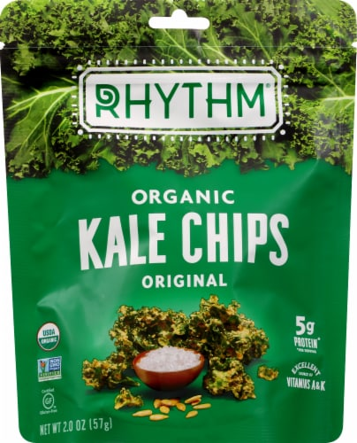 Rhythm Superfoods Organic Original Kale Chips Perspective: front