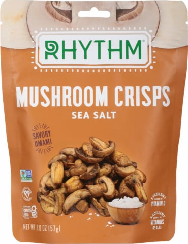 Rhythm® Gluten Free Sea Salt Mushroom Crisps Perspective: front