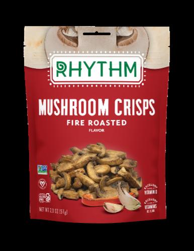 Rhythm® Gluten Free Fire Roasted Mushroom Crisps Perspective: front