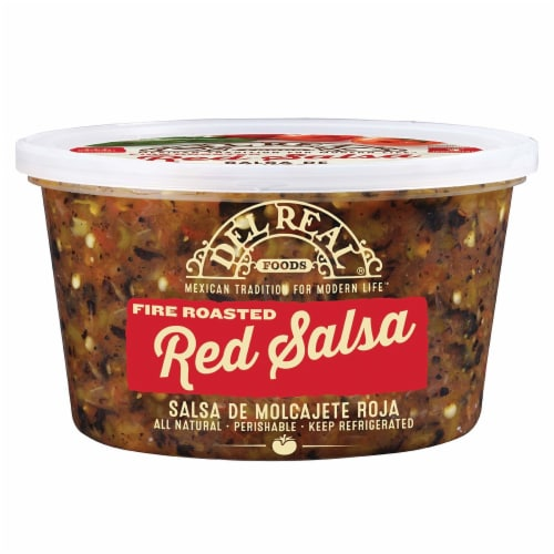 Del Real Foods Fire Roasted Red Salsa Perspective: front