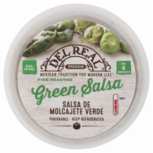 Del Real Foods Salsa de Molcajete Verde Fire Roasted Green Salsa Perspective: front