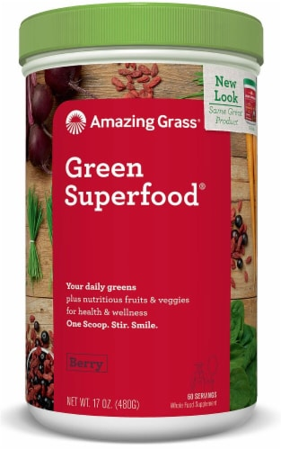 Amazing Grass  Green SuperFood® Drink Powder   Berry Perspective: front