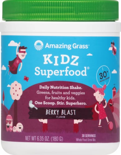 Amazing Grass Kidz SuperFood Wild Berry Drink Powder Perspective: front