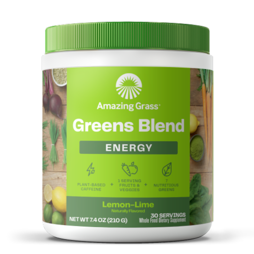 Amazing Grass Green Superfood Lemon-Lime Energy Powder Supplement Perspective: front