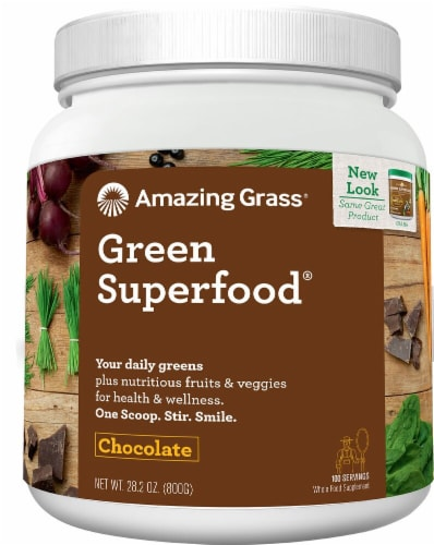 Amazing Grass  Green SuperFood® Drink Powder   Chocolate Perspective: front