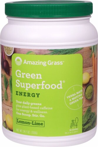 Amazing Grass  Green SuperFood® Energy Drink Powder   Lemon Lime Perspective: front