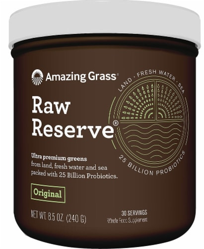 Amazing Grass Raw Reserve Original Whole Food Supplement Perspective: front