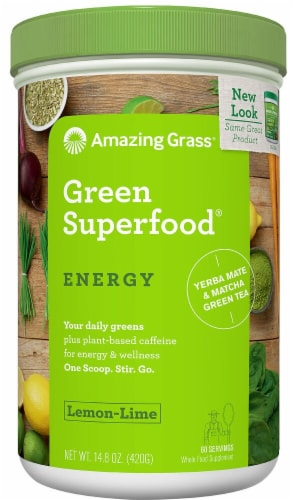 Amazing Grass  Green SuperFood® Drink Powder   Lemon Lime Perspective: front