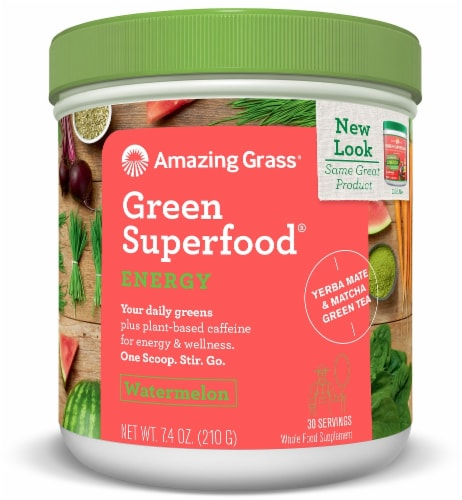 Amazing Grass Watermelon Green Superfood Energy Supplement Perspective: front