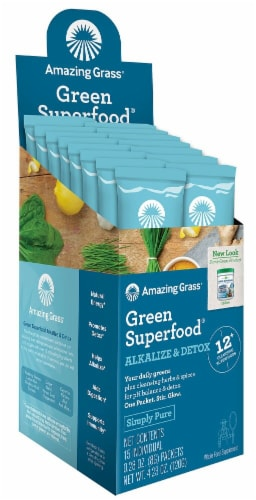 Amazing Grass  Green SuperFood® Alkalize & Detox Perspective: front