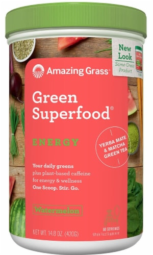 Amazing Grass  Green Superfood® Energy Drink Powder   Watermelon Perspective: front