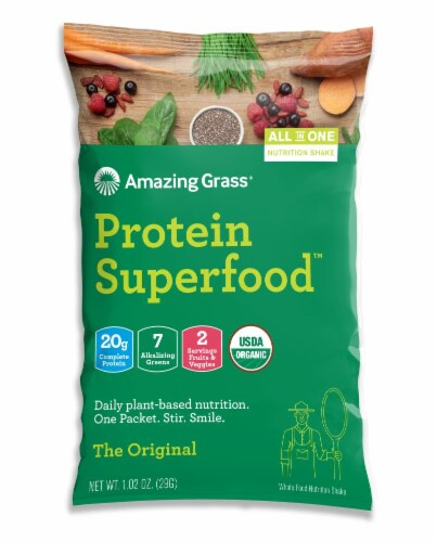 Amazing Grass Original Protein Superfood Perspective: front