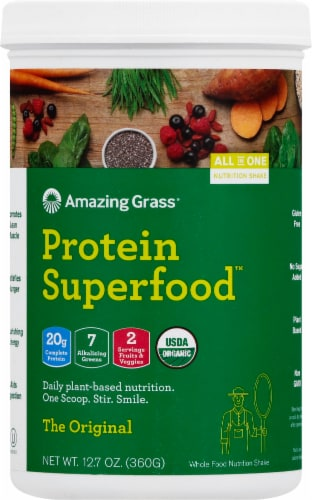 Amazing Grass Protein Superfood Nutrition Shake Powder Perspective: front