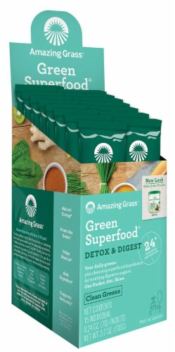 Amazing Grass  Green Superfood® Detox & Digest Perspective: front