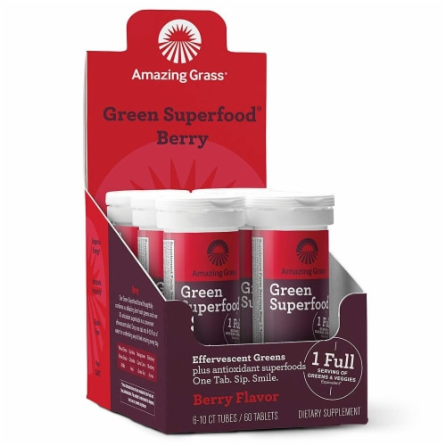Amazing Grass  Green Superfood® Effervescent Greens   Berry Perspective: front