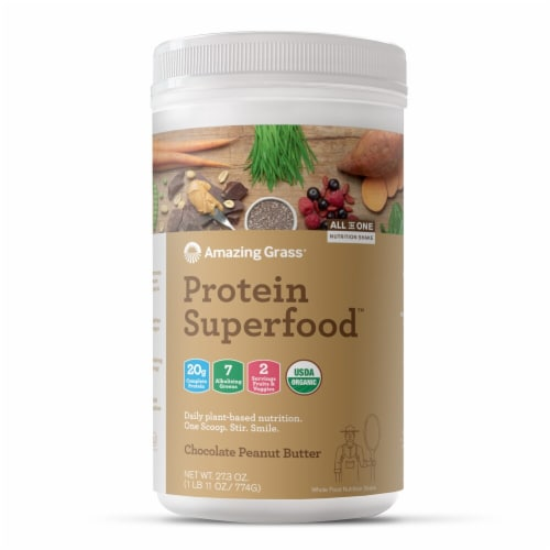 Amazing Grass  Protein Superfood   Chocolate Peanut Butter Perspective: front
