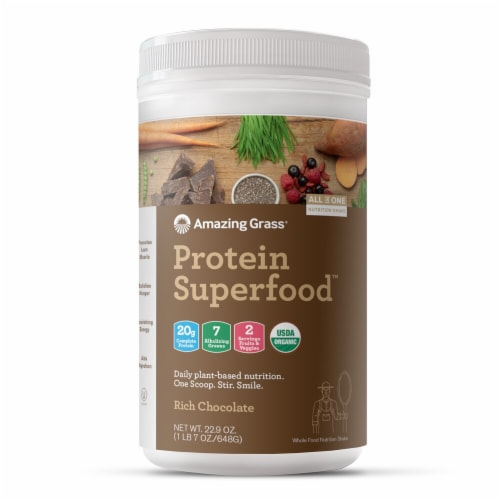 Amazing Grass  Protein Superfood   Rich Chocolate Perspective: front