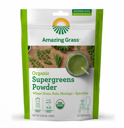 Amazing Grass Organic Supergreens Powder Perspective: front