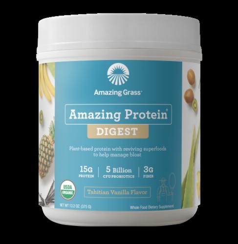 Amazing Grass Amazing Protein Digest Tahitian Vanilla Flavor Protein Powder Perspective: front