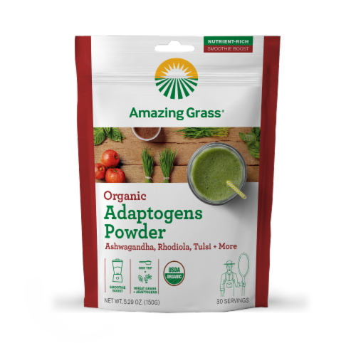 Amazing Grass Organic Adaptogens Powder Perspective: front