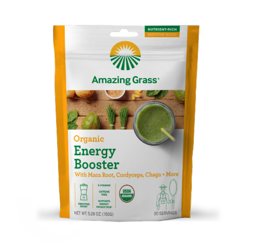 Amazing Grass Organic Energy Booster Perspective: front
