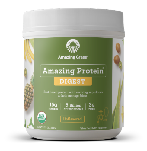 Amazing Grass Amazing Protein Digest Unflavored Dietary Supplement Powder Perspective: front