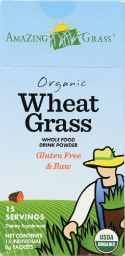 Amazing Grass Organic Wheat Grass Whole Food Drink Powder Perspective: front