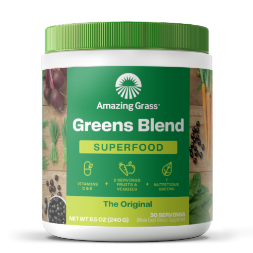 Amazing Grass Green Superfood Original Whole Food Dietary Supplement Powder Perspective: front