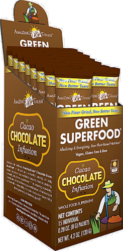 Amazing Grass Chocolate Green Superfood Powder Perspective: front