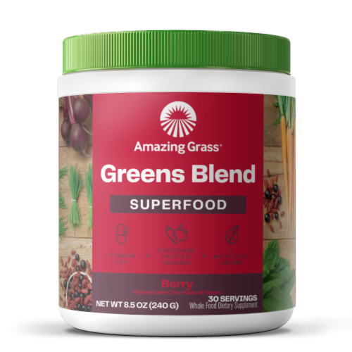 Amazing Grass Berry Green Superfood Powder Perspective: front