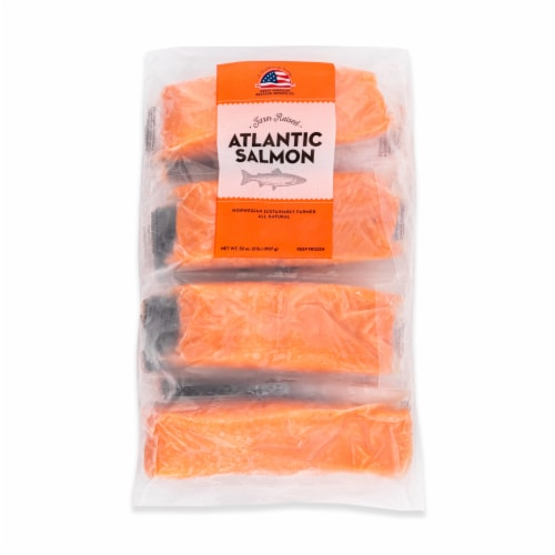 Great American Seafood Farm Raised Atlantic Salmon Fillets (Approximate Delivery is 3-6 Days) Perspective: front