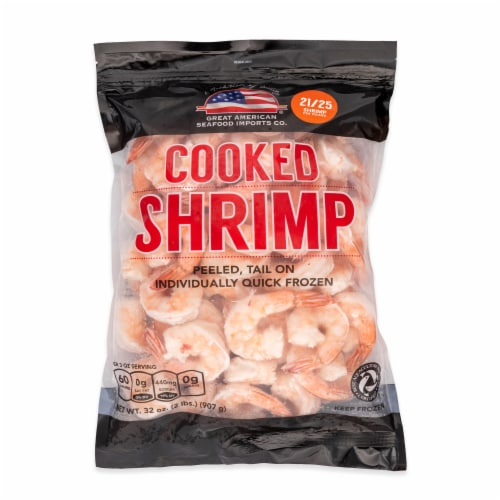 Great American Cooked Shrimp - 21-25 ct (Approximate Delivery is 3-6 Days) Perspective: front