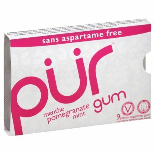 Pur Pomegranate Mint Gum Perspective: front