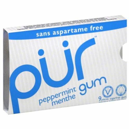 Pur Peppermint Gum 9 Count Perspective: front
