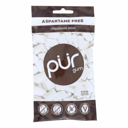 Pur Gum  Aspartame Free Gum   Chocolate Mint Perspective: front