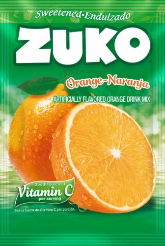 Zuko Naranja Orange Drink Mix Perspective: front